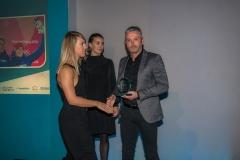 Bath Chronicle Sport Awards, Tuesday 20 November 2018  Award No 3 : Senior Team of the Year   Presented by  Jerry Gill, Manager of Bath City F.C.  to winner British Skeleton       PHOTO:PAUL GILLIS / paulgillisphoto.com