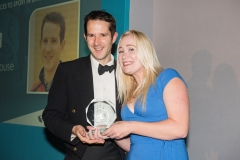 Bath Chronicle Sport Awards, Tuesday 20 November 2018 Award No 6 : Outstanding Services to Support in Bath sponsored by Bath Ales   presented by Janine Daws, Sales Development Manager, Bath Ales to Brendan Rouse       PHOTO:PAUL GILLIS / paulgillisphoto.com
