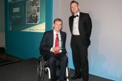 Bath Chronicle Sport Awards, Tuesday 20 November 2018  Award No 7 : Disability Sports Performer sponsored by Assured Mobility  presented by   David Eatwell, Director, Assured Mobility to winner    Piers Gilliver . PHOTO:PAUL GILLIS / paulgillisphoto.com