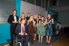 Bath Chronicle Sport Awards, Tuesday 20 November 2018  All tonights winners celebrate on stage.     PHOTO:PAUL GILLIS / paulgillisphoto.com